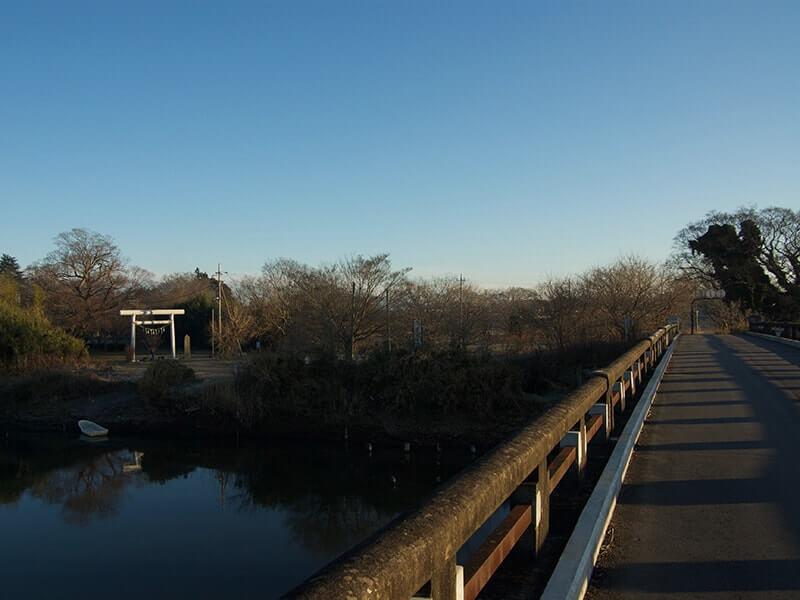 金村別雷神社は小貝川のすぐそばにあります
