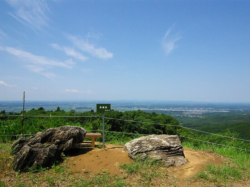 真弓神社の見晴台です