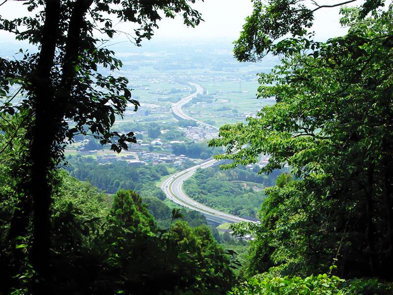 風神山山頂から見る街並みです