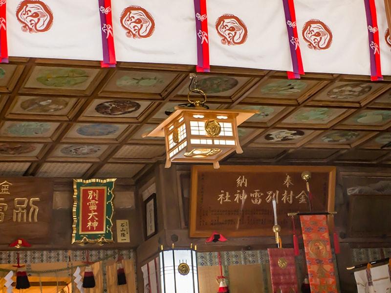 社殿の天井