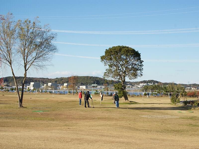 広大な敷地のグラウンドゴルフ場
