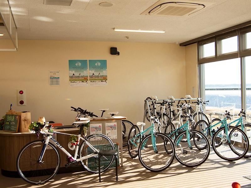 交流センター1Fで自転車のレンタル