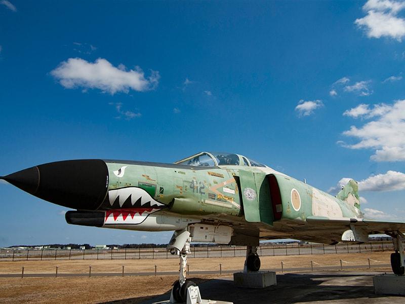 茨城空港の展示飛行機2