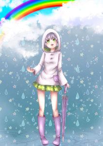 雨を楽しむayameさん