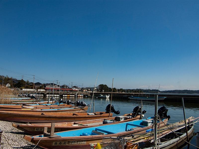 広浦港の船