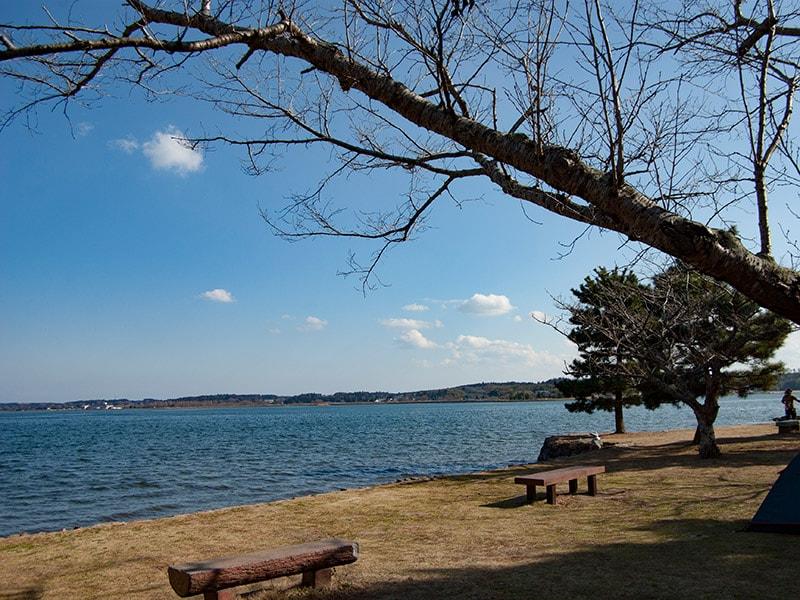 親沢公園から見る涸沼