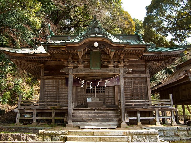 蚕影神社の外観
