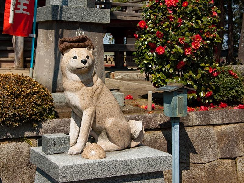 白犬の像2