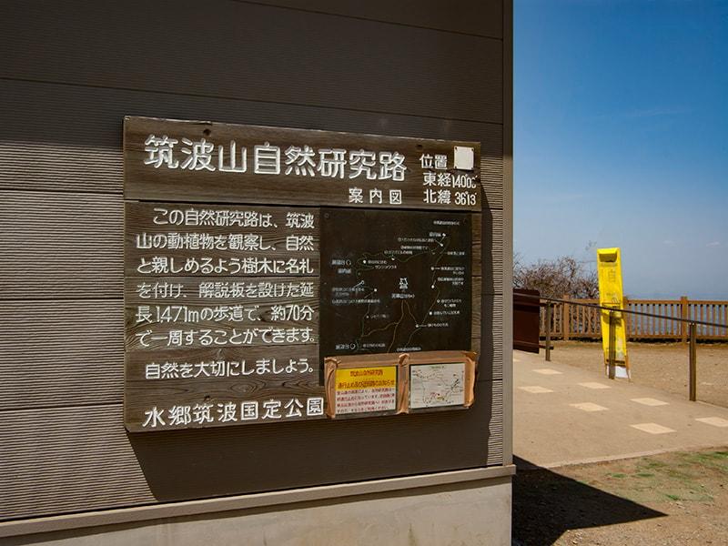 筑波山自然研究路の看板
