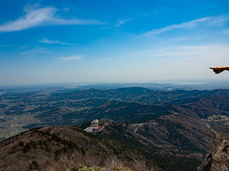 女体山山頂からの景色