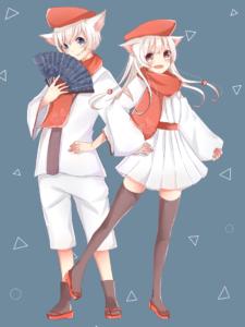 2匹の白犬(板橋不動の使い)