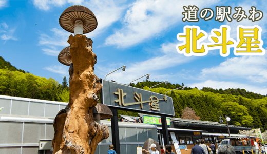 北斗星(道の駅みわ)と吉田八幡神社(常陸大宮市)