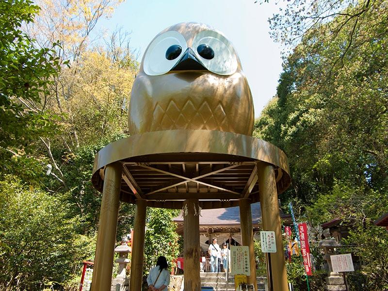 日本一の大フクロウ像