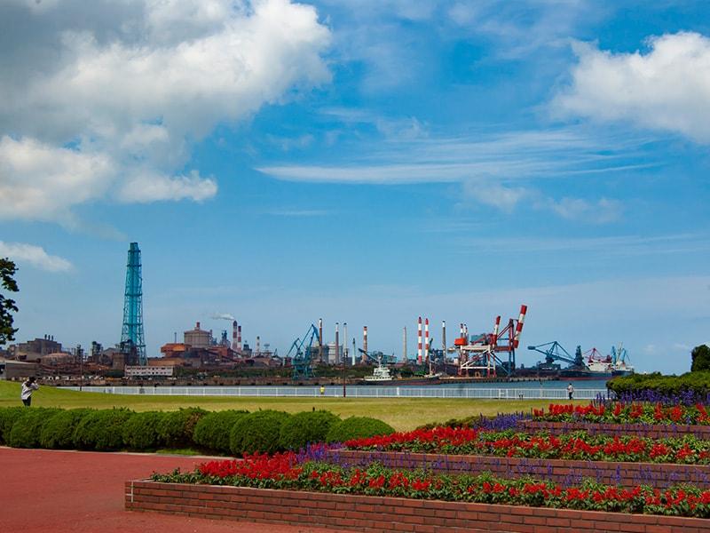 公園から見る鹿島港1
