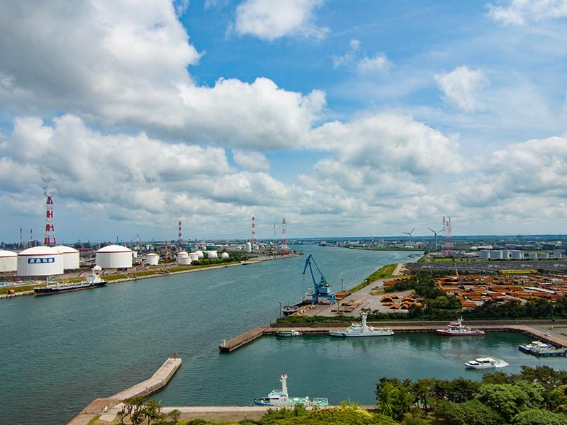 展望塔から見る鹿島港1