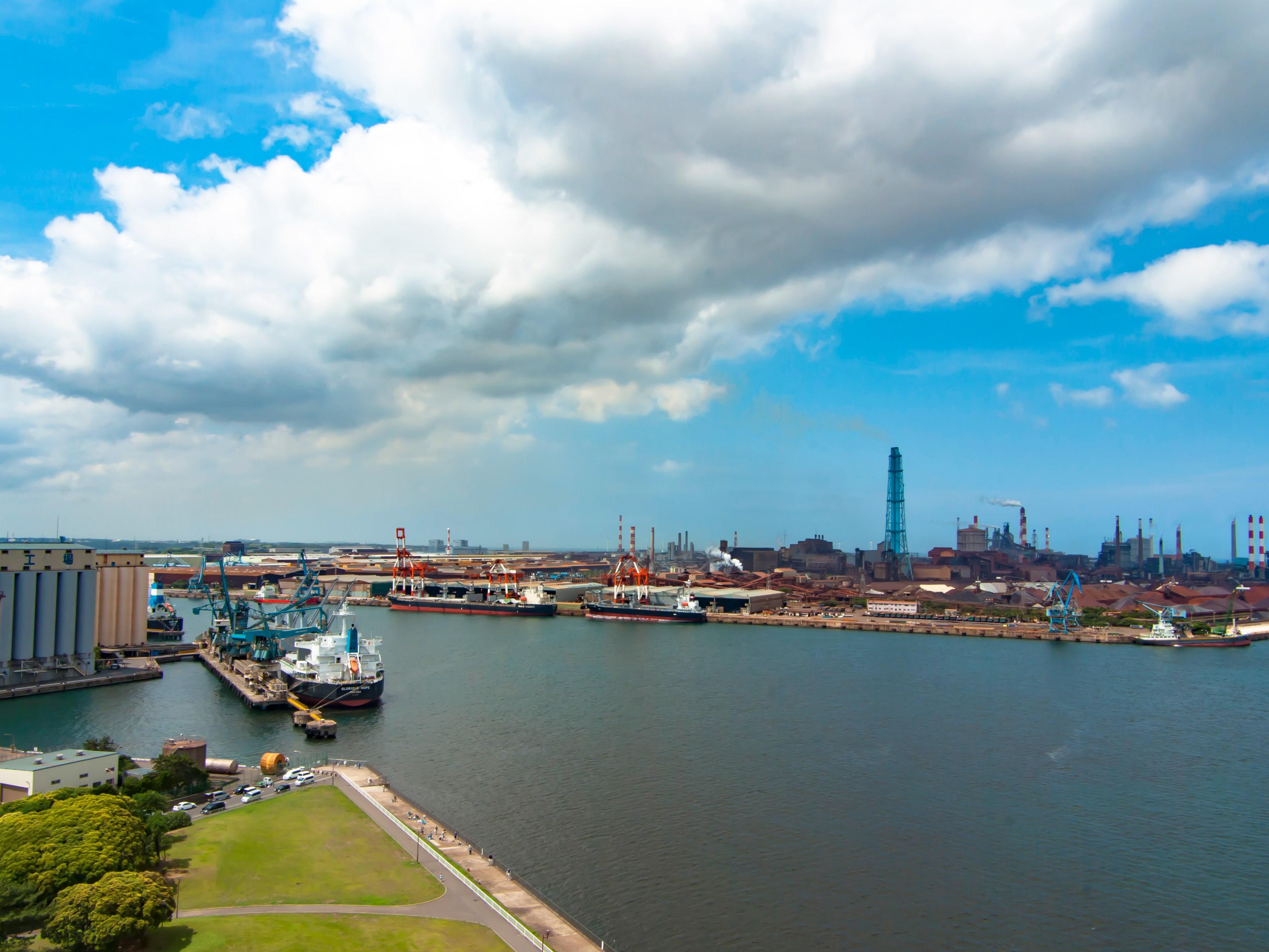 展望塔から見る鹿島港2