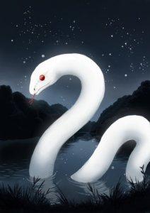 宍塚大池の大蛇