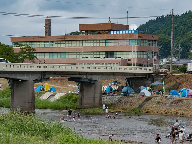 大子町役場と押川