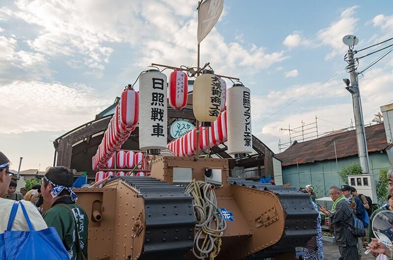 日照戦車の戦車神輿