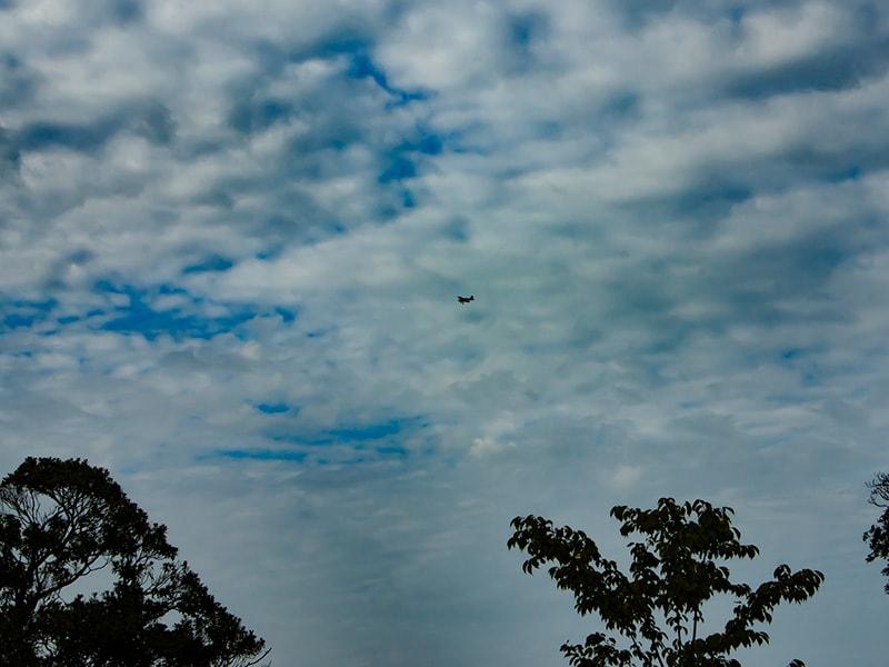 ロードパーク美浦の丘から見える飛行機