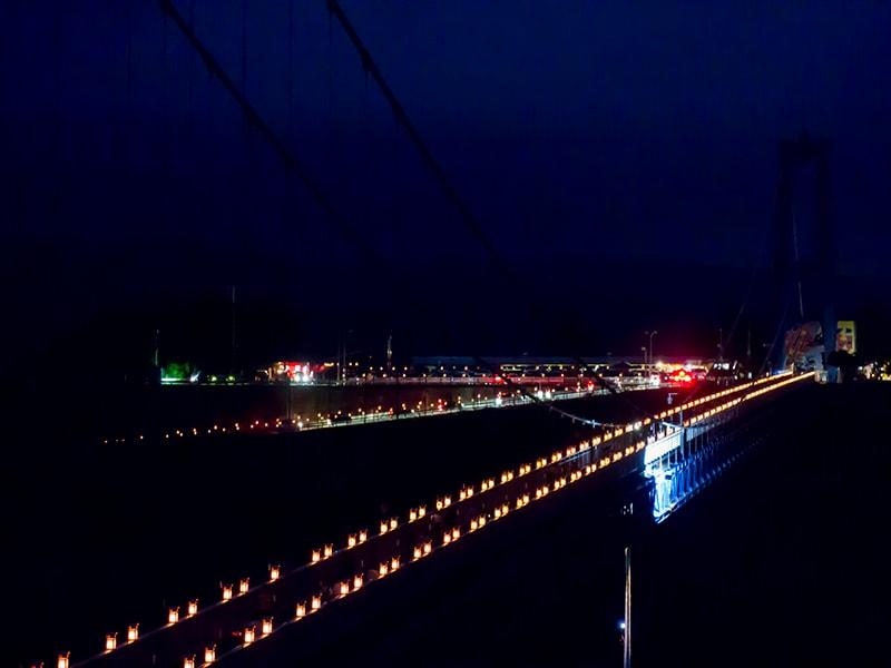 ライトアップされた竜神大吊橋2
