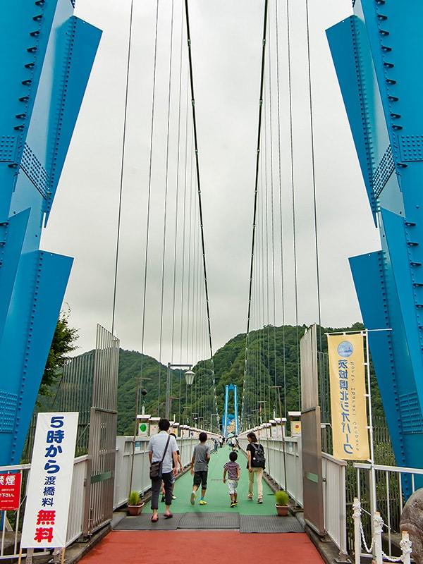 開放された竜神大吊橋