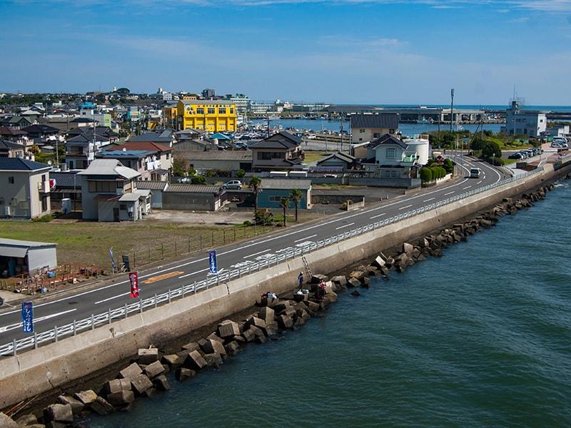 海門橋から見る那珂湊