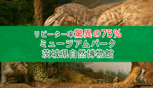リピーター率75%のミュージアムパーク茨城県自然博物館(坂東市)