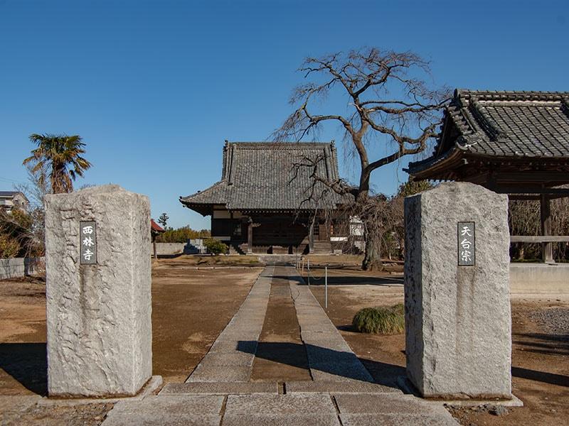 西林寺入り口