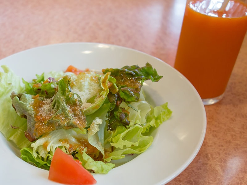 コンボセットのサラダ