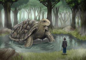 イラスト『飯沼の大亀』