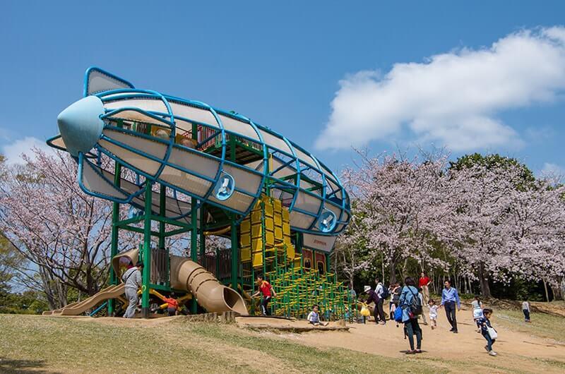 霞ヶ浦総合公園のツェッペリン型遊具