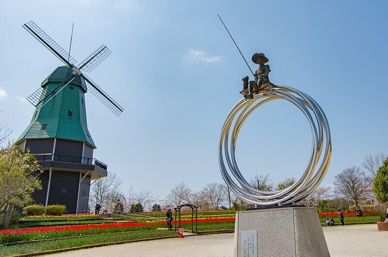 霞ヶ浦総合公園のオランダ型風車