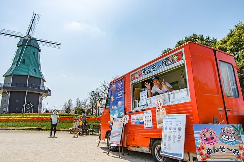 霞ヶ浦総合公園とキッチンカー