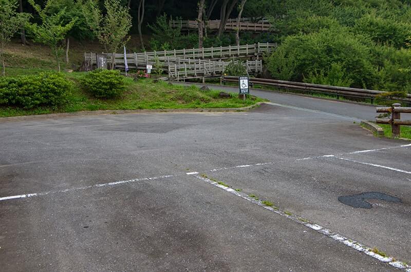筑波山展望家そばの駐車場