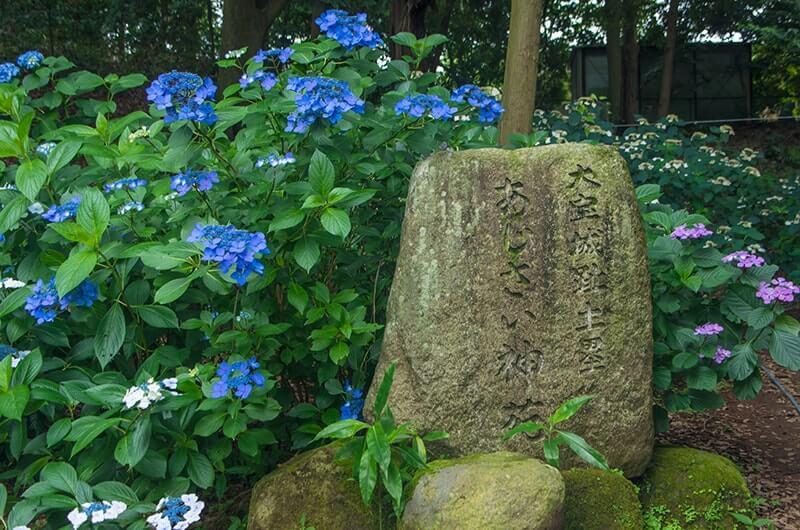 あじさい神苑入口の石碑