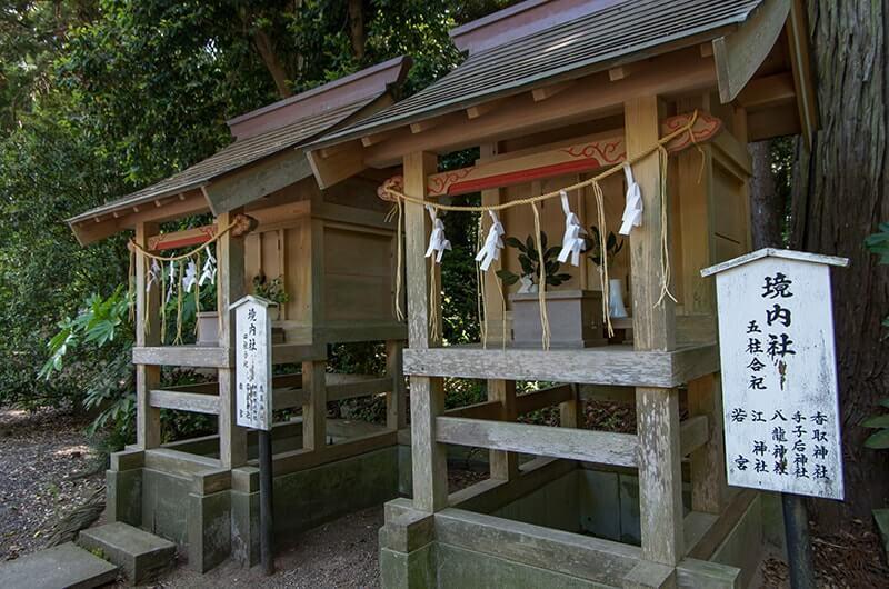 息栖神社の末社八龍神社