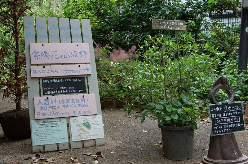 坂野ガーデン案内板