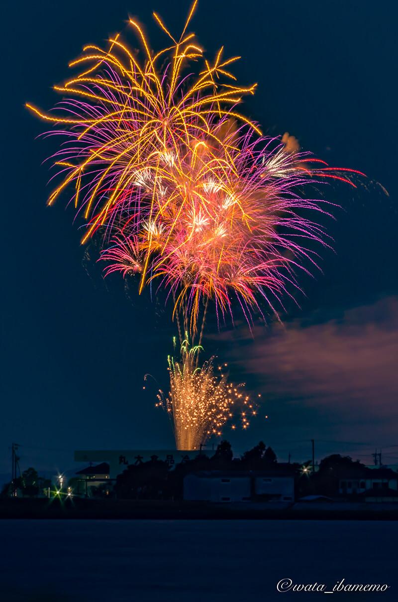 あゆみ祭りの花火