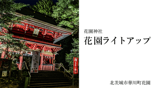 花園神社の紅葉ライトアップ2018(北茨城市)