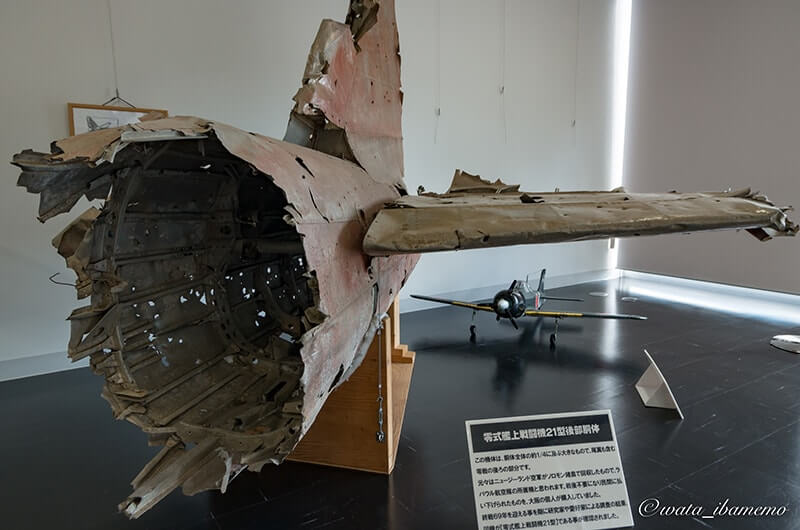 記念館1Fにある機体の一部