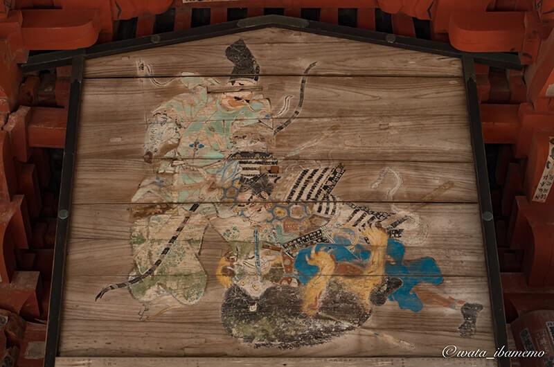 源頼政の妖怪退治の画