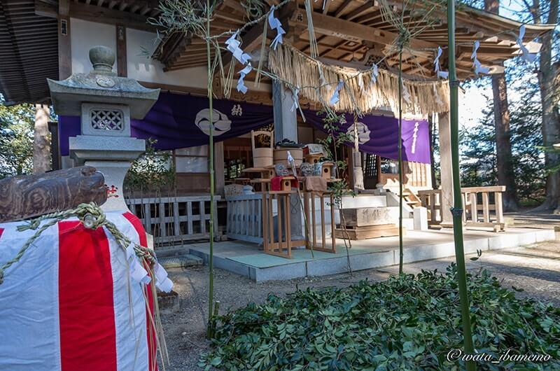 鍬の祭の会場