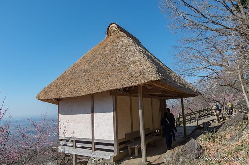 富士山が見れる展望四阿