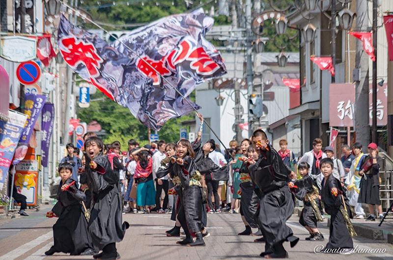 常陸国YOSAKOI祭りの流し踊り