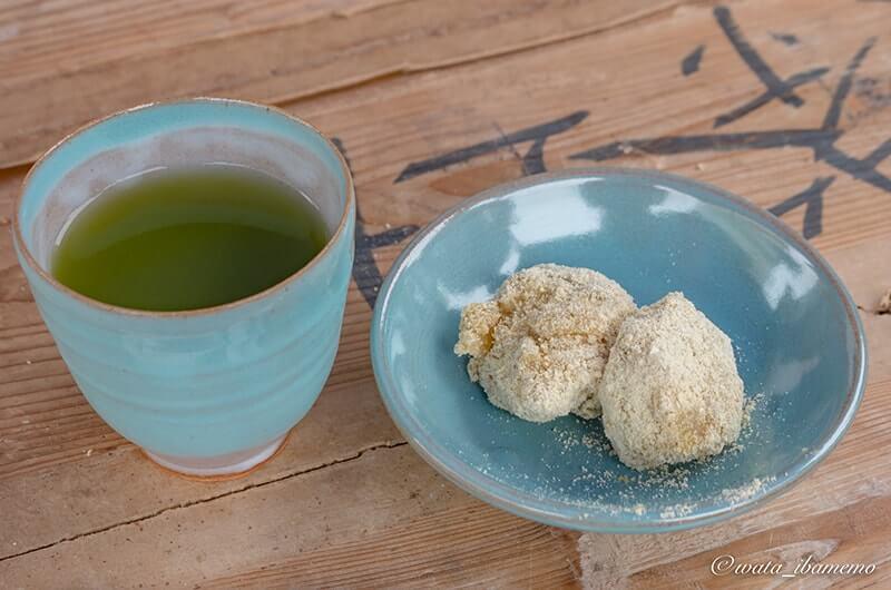 古内茶とあべかわ餅