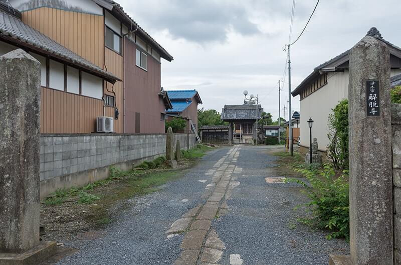 解脱寺の入口