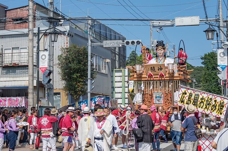 櫻町区の山車と木之花咲耶姫