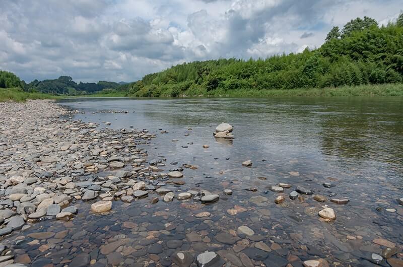 かわプラザの久慈川