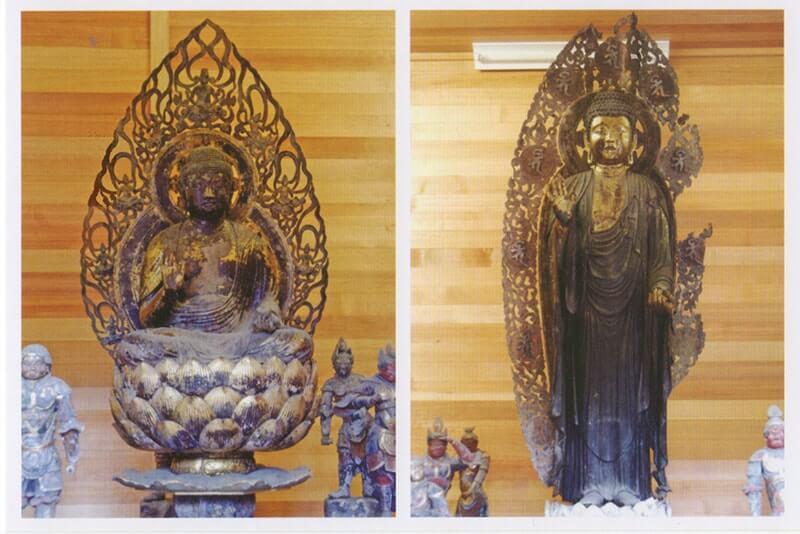 木造薬師如来立像および坐像